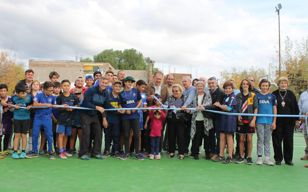 La Municipalidad inauguró un Playón Deportivo en Carrodilla