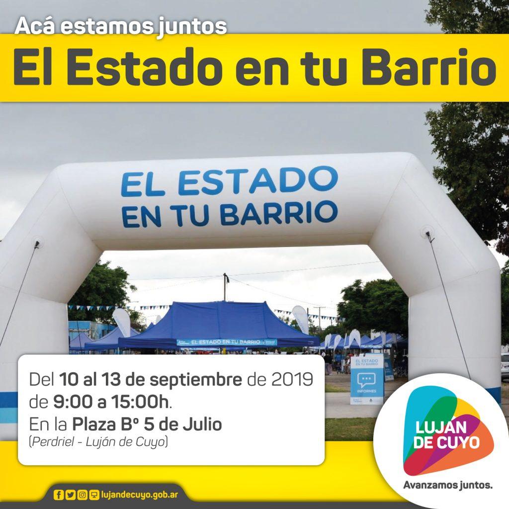 """El """"Estado en tu Barrio"""" llega a Luján de Cuyo"""