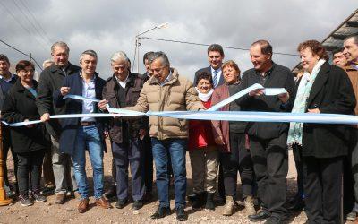Cornejo y De Marchi inauguraron la nueva Red Cloacal de Agrelo