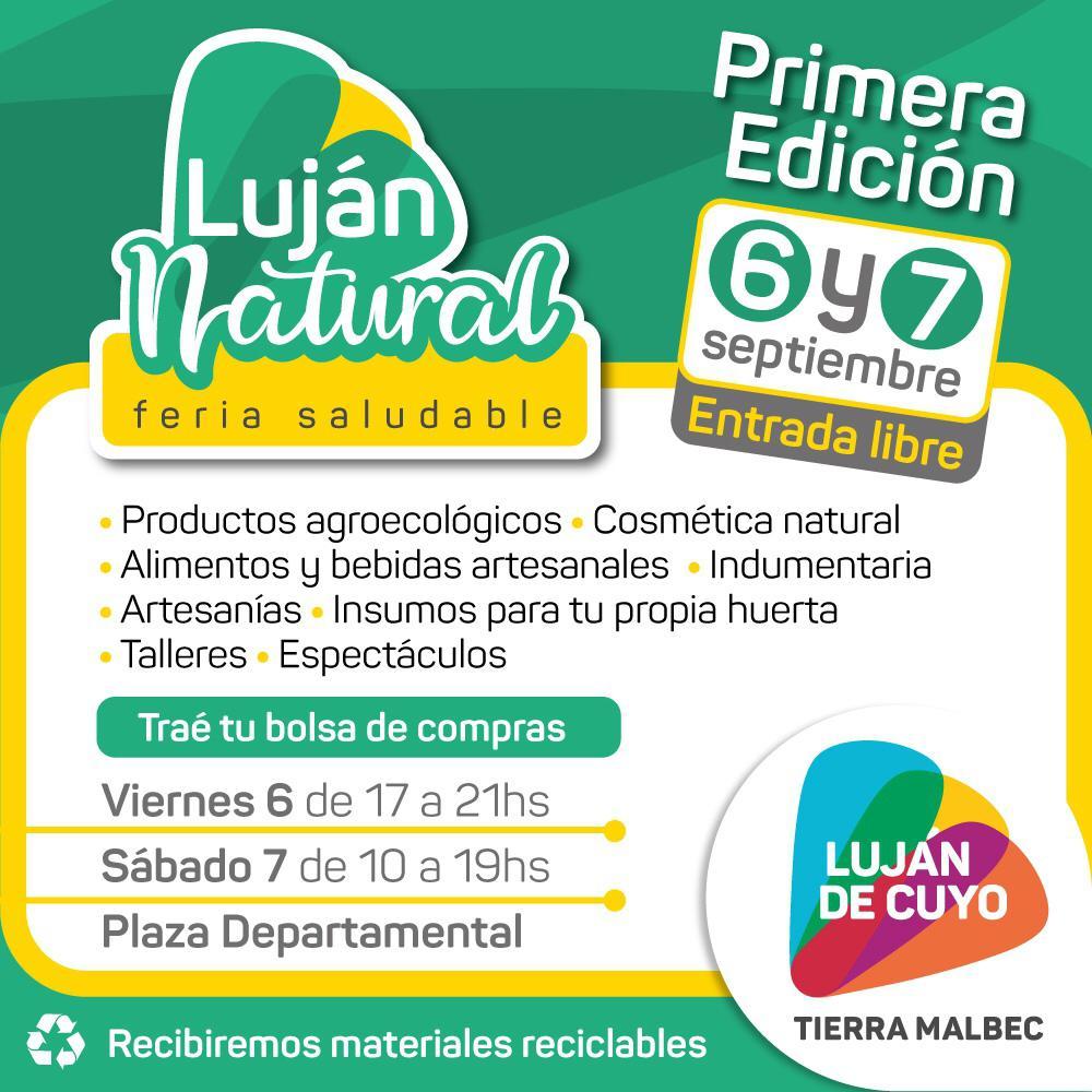 """Llega la primera edición de la Feria """"Luján Natural"""""""