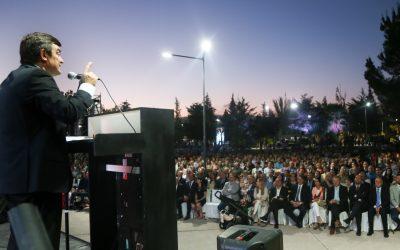 De Marchi inauguró el Parque Cívico Luján de Cuyo