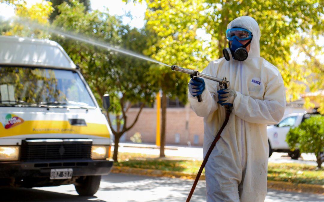 Luján de Cuyo intensifica los operativos de desinfección