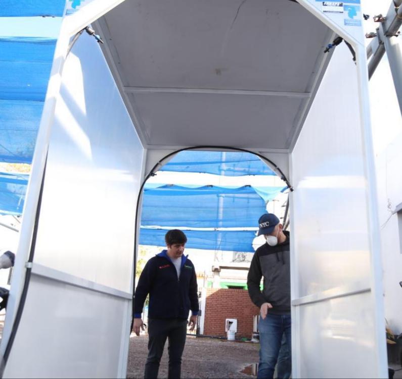Luján de Cuyo comenzó a realizar testeos de diferentes túneles de desinfección