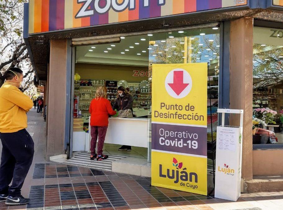 Luján de Cuyo comenzó a instalar sanitizantes automáticos