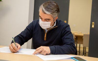 Bragagnolo firmó el inicio de obra del Centro Verde Luján de Cuyo