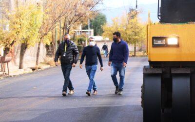 Ambicioso programa de pavimentación en Luján de Cuyo