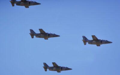 Aviones Pampa II sobrevolaron por el cielo de Luján de Cuyo