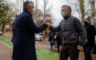 Sebastián Bragagnolo recibió a Mauricio Macri en Luján de Cuyo