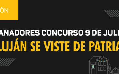 """Ganadores del concurso """"Luján se Viste de Patria"""" 9 de julio"""