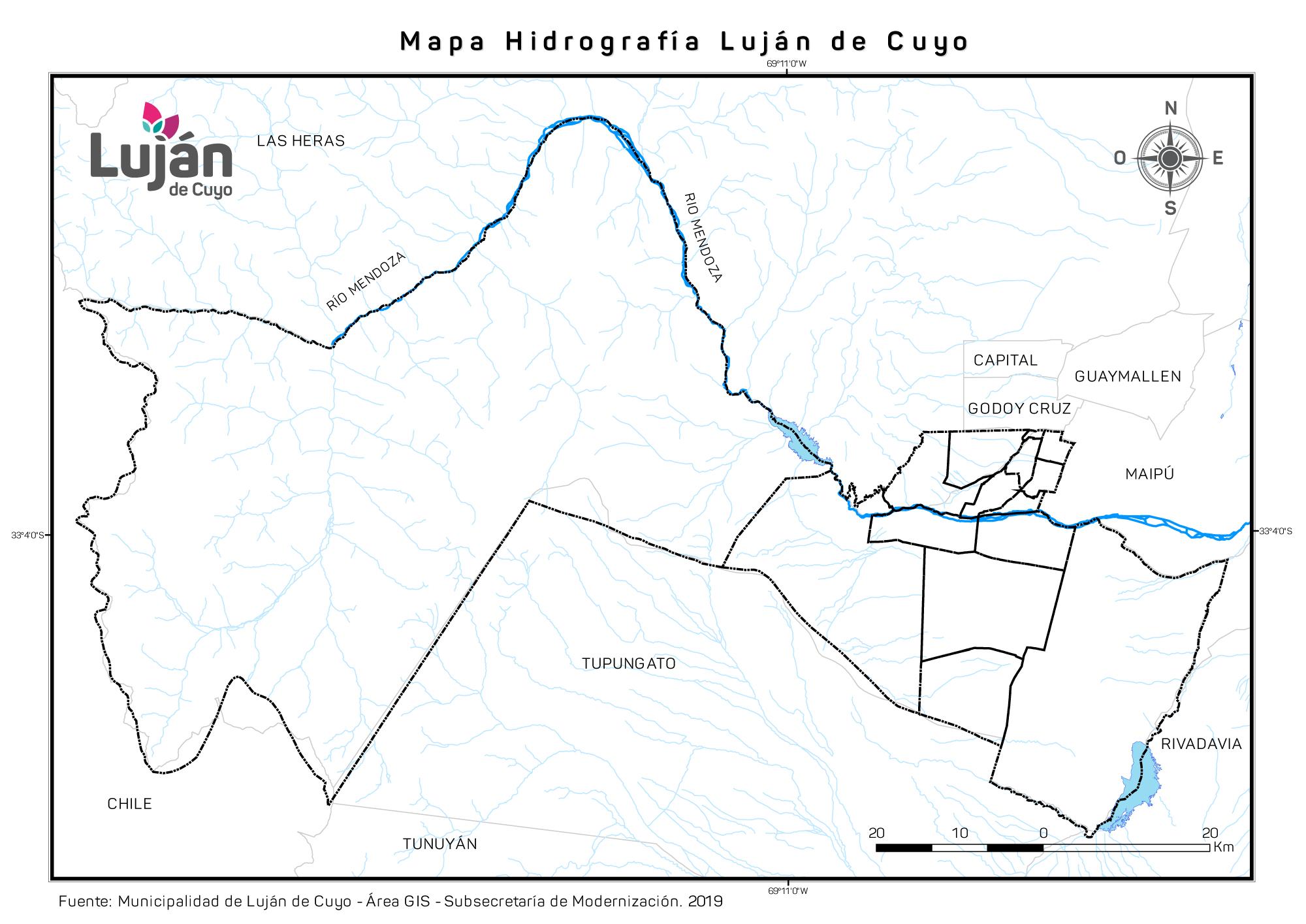 Mapa Hidrografíaº
