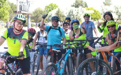 Bragagnolo participó de una bicicleteada por las ciclovías de Luján